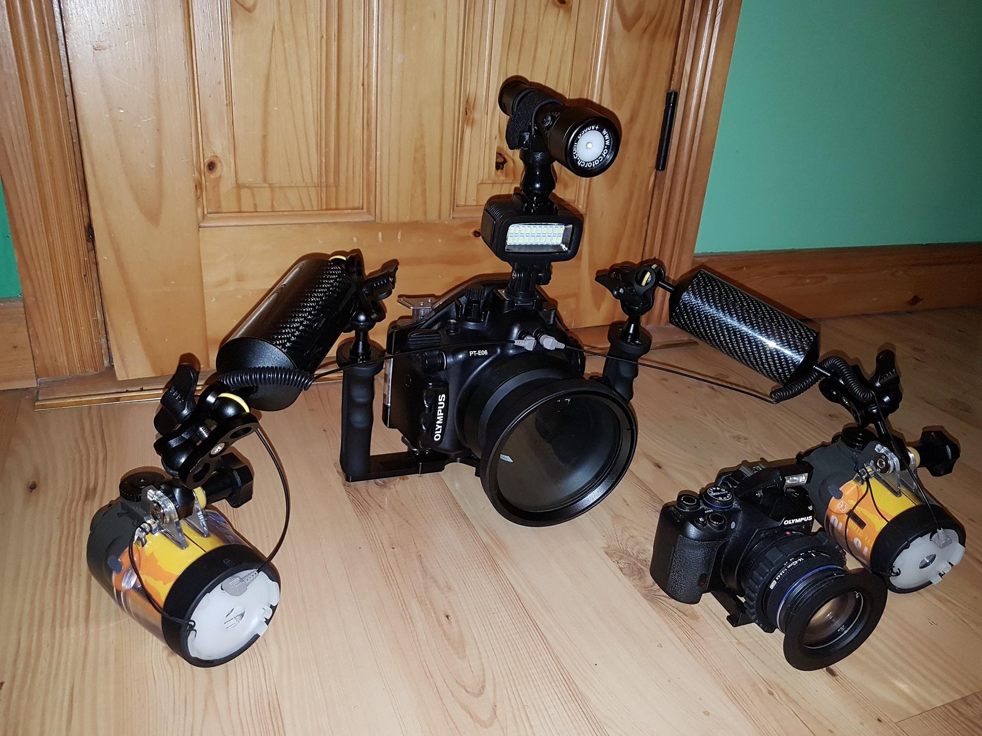 Od zrobienia tego zdjęcia doszło: kamerka GoPro,dwa ramiona i mokre macro z uchwytem.